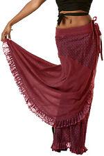 STEAMPUNK SKIRT, ONE SIZE - flamenco skirt, LONG SKIRT, WRAP SKIRT, PIXIE SKIRT