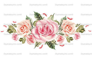 Waterslide Furniture Decal Image Transfer Florist Rose Upcycle Shabby Chic Art