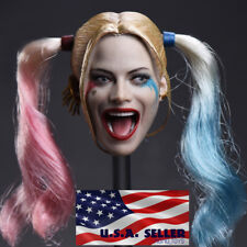 1/6 Suicide Squad Harley Quinn Head Sculpt For Hot Toys PHICEN Figure ❶USA❶