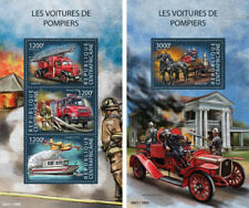 Fire Engines Transport Firefighters Feuerwehrleute Central Africa MNH stamp set