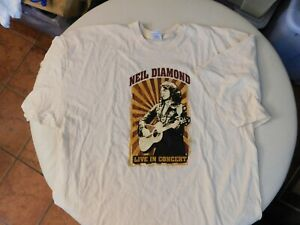 Neil Diamond Live in Concert 2008 World Tour 3xl Cream color  T2