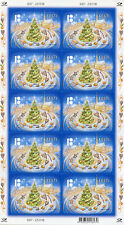 Estonia 2018 MNH Christmas Trees 10v S/A M/S Architecture Stamps