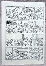 Hergé Tintin au Tibet Copie de Bleu d'imprimerie Planche 46 Format A4 Superbe !