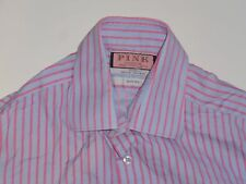"Thomas Pink pink stripes shirt 15.5"" / 39 mens, slim fit - S5511"