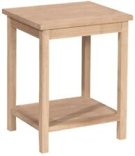20 x 16 x 14 in. Unfinished Wood Wooden End Side Accent Table Decor Furniture