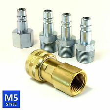 Foster 5 Series Brass Quick Coupler 1/2 Body 3/4 NPT Air Hose and Water Fittings