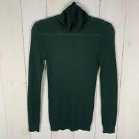 Missoni Womens Green Size 6 Turtle Neck Long Sleeve Knit Sweater