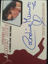 007 Women James Bond Heroes Villains Caroline Munro Autograph Naomi WA32