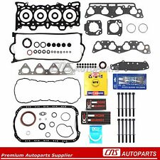 96-00 1.6L FITS HONDA CIVIC SOHC Re-Ring Kit + Head bolts + Silicone D16Y5 Y7 Y8