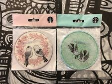 Starbucks Korea Love Bird Valentine Pink And Mint Set Coasters Limited Ed