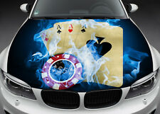 Full Color Graphics Adhesive Vinyl Sticker Fit any Car Hood Four Aces #020