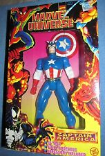 10 INCH CAPTAIN AMERICA MARVEL UNIVERSE COMICS DELUXE FIG. TOY BIZ 1997 MIB