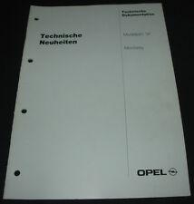 Technische Information Opel Monterey ab Modelljahr 1997 Neuheiten Dokumentation