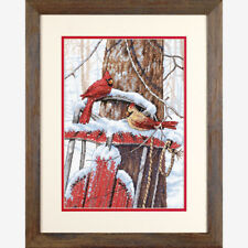 Dimensions Counted Cross Stitch Kit - Cardinals On Sled