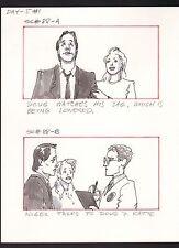 SHE'S OUT OF CONTROL 1989 TONY DANZA ORIGINAL STORYBOARD ART CARL ALDANA SC#88AB