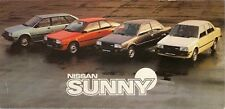 Nissan Sunny 1982 UK Market Launch Small Format Foldout Sales Brochure