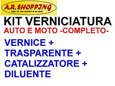 KIT VERNICE AUTO-MOTO METALLIZZATO+TRASPARENTE+DILUENTE PER CARROZZERIA PROFESS