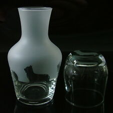 Yorkshire Terrier dog gift  carafe Water Set..Boxed