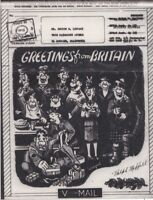 G.B.  Airgraph   WW2 US Troops IN UK Greetings From Britian to USA