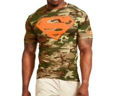 UNDER ARMOUR MENS XL SUPERMAN camouflage COMPRESSION shirt New sealed bag