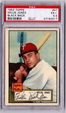 1952 Topps #47 Willie Jones Excellent PSA 5.5