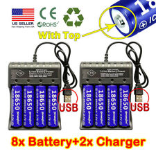 Lots Skywolfeye 18650 Battery Li-ion 3.7V Rechargeable For LED Torch Flashlight