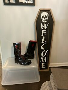 Underground England Black Leather Boots