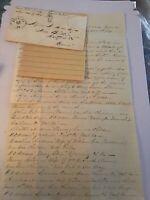 1869 Handwritten Letter Asa Andrews JW Spencer Court House Va Virginia Envelope