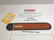 ICS 890 & Maxcut Stealth Chainsaws 15 Inch Bar,Concrete Chain,and Sprocket