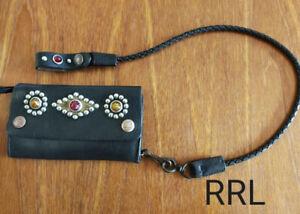 RRL leather biker wallet  vintage processing Ralph Lauren Garrett