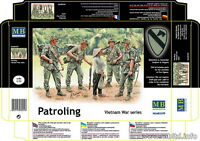 "Master Box Model kit #3599 1/35 Vietnam War Series - ""Patrolling"" (5 figures)"