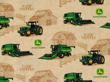 JOHN DEERE TRACTOR FABRIC  COUNTRY FARM SCENIC  SPRINGS CREATIVE  BY THE YARD