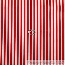 BonEful Fabric FQ Cotton Quilt VTG Red White Xmas Candy Cane Stripe Baby Boy USA