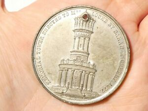 1877 Memorial Tower for Phoebe Locke by Sarah McCreery BARNSLEY Medal #SP70