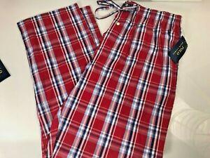 POLO RALPH LAUREN Mens Pajama Lounge Plaid Woven Cotton Pants Choose Size Color