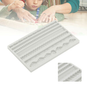 Vintage Rope Relief Silicone Cake Fondant Mold Border Decor Chocolate Mould