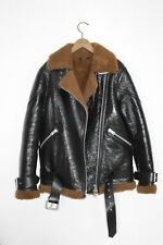 *WOW* AllSaints Ladies HAWLEY OVERSIZED SHEARLING Leather Biker Jacket XS Small