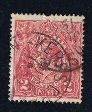 """Australia NSW """"KERR'S CREEK"""" Postmark on KGV 2D Red"""