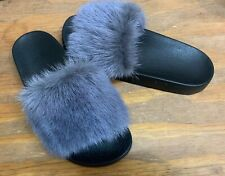 Givenchy Women's Dark Gray Mink Fur Slide Size 7.5 M 38 EU