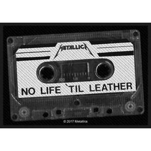 """METALLICA - """"NO LIFE TILL LEATHER"""" - WOVEN SEW ON PATCH - OFFICIAL - U.K. SELLER"""