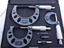 """Micrometer Imperial Set 3pc 0-3"""" x .001""""increments quality workshop grade"""