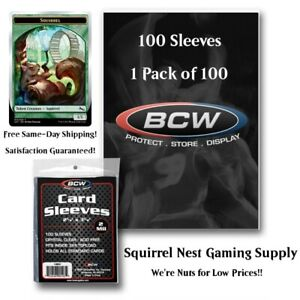 SHIPS SAME DAY! - 100 BCW Standard Card Sleeves - 1 Pack of 100 Penny Sleeves