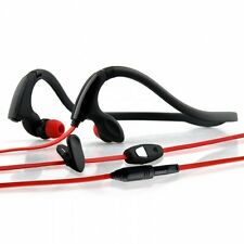 New NoiseHush NS200-12074 3.5mm Sports Neckband Stereo Headphones, Black/Red