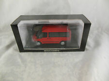 Scarce Minichamps 400 081210 Ford Transit Tourneo Bus in Red 2001 1 of 1008 Pcs