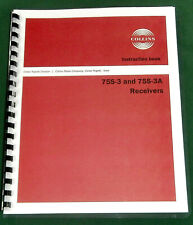 """Collins 75S-3 Instruction manual: 11"""" X 44"""" Schematic & Protective Covers!"""