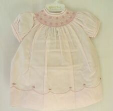 Feltman Bros Smocked Short Slv Dress 86549 Floral Embroid Pink 3 6 or 9M #10661