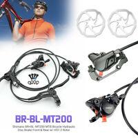 Frein à disque hydraulique pour vélo Shimano BR + BL-MT200 pour VTT, avant et