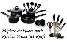 Keimav 20-piece Cookware with Nylon Utensil w/ Kitchen Prince Knife Set