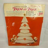 "Vintage Christmas Tree Paper Decoration 16"" Tall Honeycomb Centerpiece"