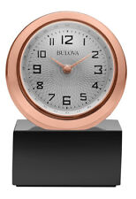 Bulova Sphere Analog Quartz Rose Gold Tone Tabletop Clock B5015